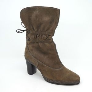 Clarks Artisan Tralee Ruched Tie Leather Boots
